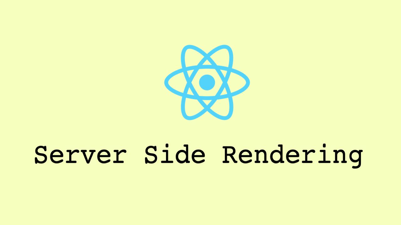 Challenges in server side rendering React apps (SSR) - Vijay