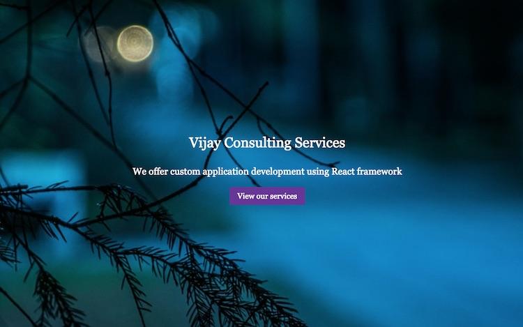 Static website using Gatsby and Markdown - Vijay Thirugnanam