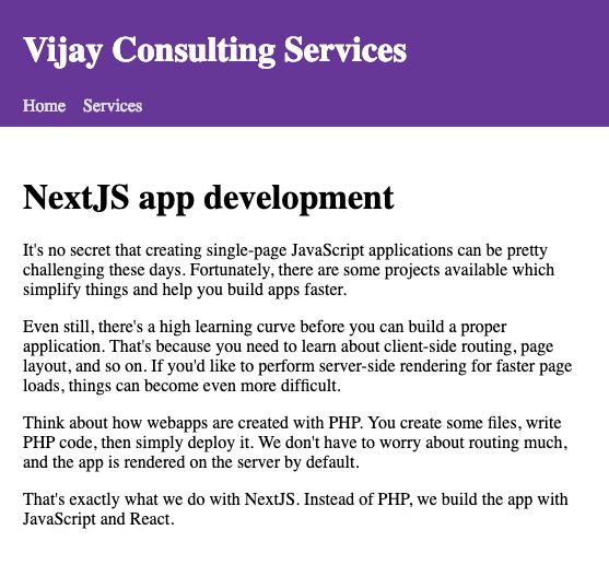 Static website using NextJS and Markdown - Vijay Thirugnanam